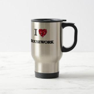 I Love Housework Stainless Steel Travel Mug
