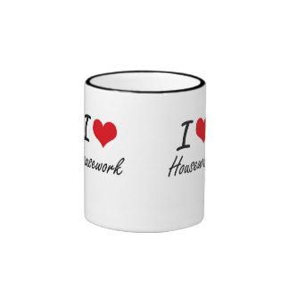I love Housework Ringer Mug