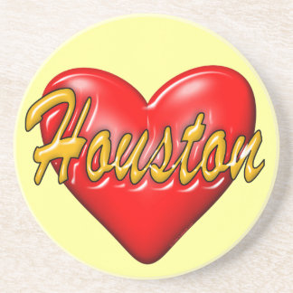 I Love Houston Beverage Coasters