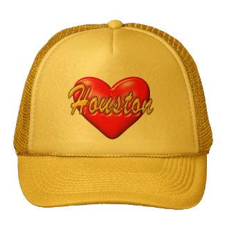 I Love Houston Trucker Hats