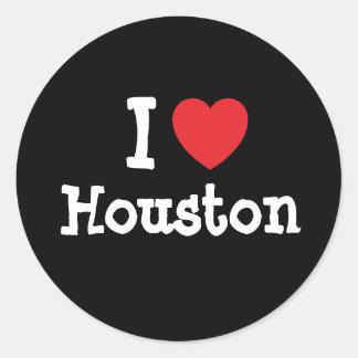 I love Houston heart custom personalized Round Sticker