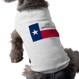 I Love Houston Texas (Dog T-Shirt) Sleeveless Dog Shirt