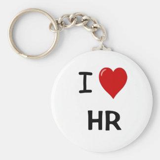I Love HR Basic Round Button Key Ring