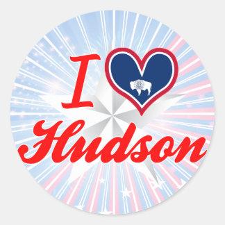 I Love Hudson, Wyoming Round Sticker