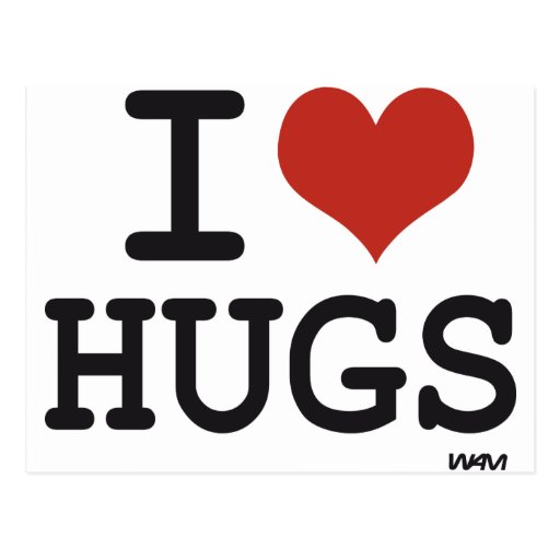 I love Hugs Postcards