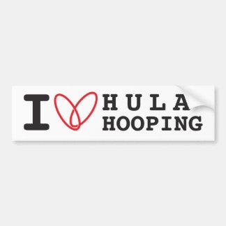 I love Hula Hooping bumper sticker