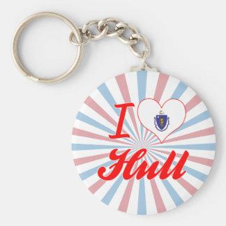 I Love Hull, Massachusetts Key Ring