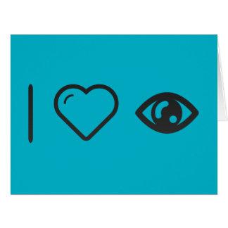 I Love Human Eye Big Greeting Card