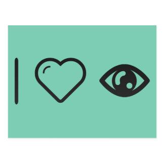 I Love Human Eye Postcard