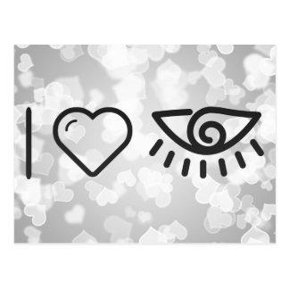 I Love Human Eyes Postcard