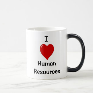I Love Human Resources - Double sided Morphing Mug