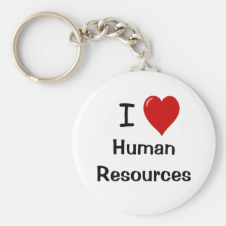 I Love Human Resources Key Ring