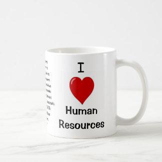 I Love Human Resources - Triple sided Coffee Mug