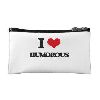 I love Humorous Cosmetic Bag