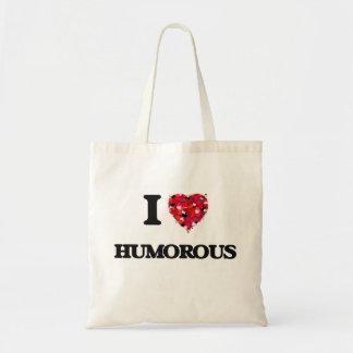 I Love Humorous Budget Tote Bag