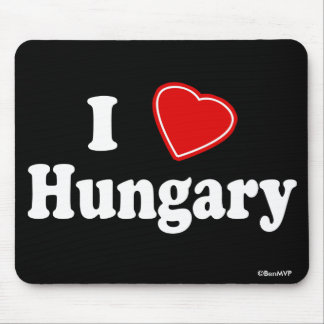 I Love Hungary Mouse Pad