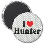 I Love Hunter Fridge Magnets