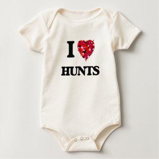 I Love Hunts Rompers