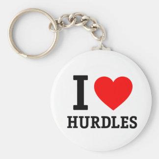I Love Hurdles Key Ring