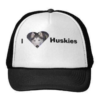 I love huskies cap