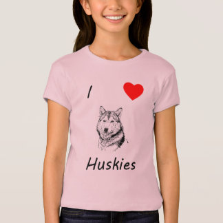 I Love Huskies T-Shirt