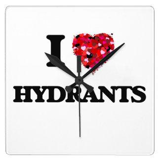 I Love Hydrants Wallclock