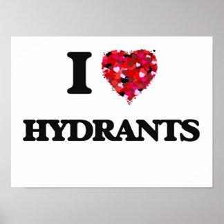 I Love Hydrants Poster
