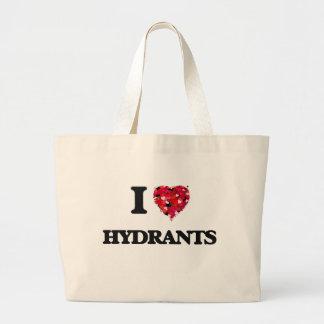 I Love Hydrants Jumbo Tote Bag