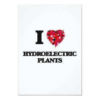 I Love Hydroelectric Plants 9 Cm X 13 Cm Invitation Card