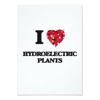 I Love Hydroelectric Plants 13 Cm X 18 Cm Invitation Card