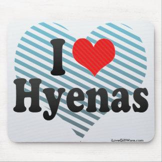 I Love Hyenas Mousepad