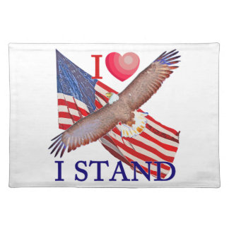I LOVE I STAND PLACEMAT