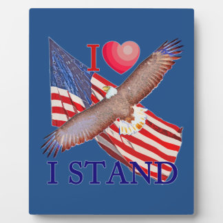 I LOVE I STAND PLAQUE