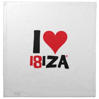 I love Ibiza 18IZA Special Edition 2018 Napkin