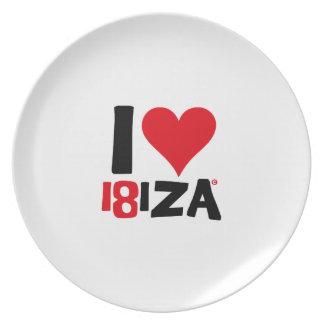 I love Ibiza 18IZA Special Edition 2018 Plate