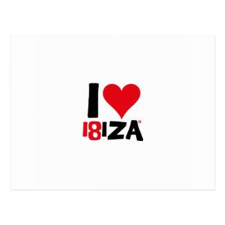 I love Ibiza 18IZA Special Edition 2018 Postcard