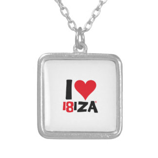 I love Ibiza 18IZA Special Edition 2018 Silver Plated Necklace