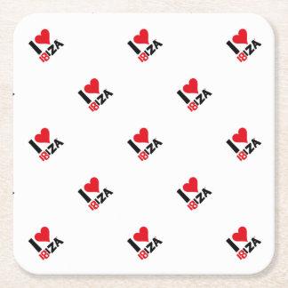 I love Ibiza 18IZA Special Edition 2018 Square Paper Coaster