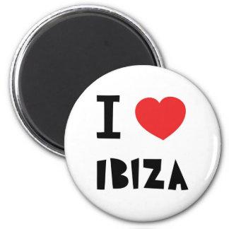 I love Ibiza 6 Cm Round Magnet