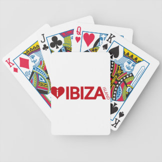 i Love Ibiza Island Original Authentic souvenirs Bicycle Playing Cards