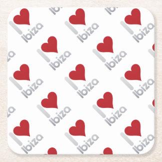 I LOVE IBIZA SQUARE PAPER COASTER