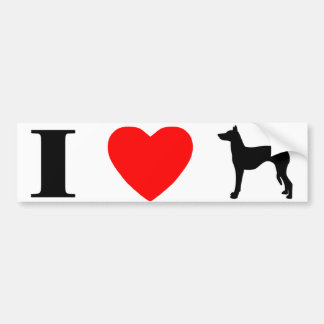 I Love Ibizan Hounds Bumper Sticker