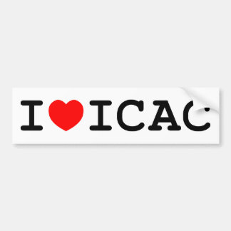 I Love ICAC Bumper Sticker
