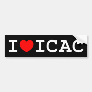 I Love ICAC Bumper Sticker (dark)
