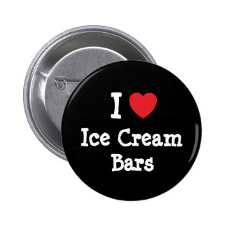 I love Ice Cream Bars heart T-Shirt Buttons