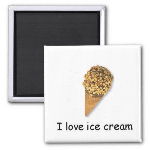 I love ice cream Nutty Cone Magnet