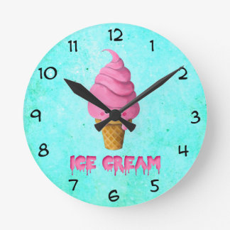 I love Ice Cream Round Clock