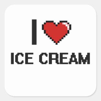 I Love Ice Cream Square Sticker