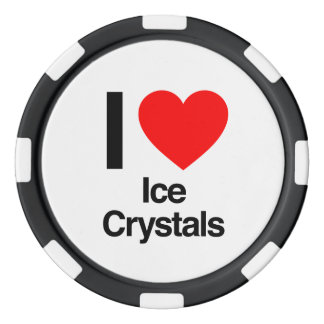 i love ice crystals set of poker chips