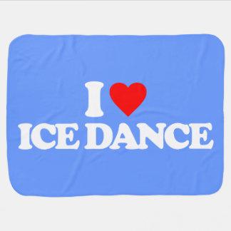 I LOVE ICE DANCE RECEIVING BLANKETS